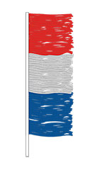 Metallic Antenna Pennant Fringe - Red/Blue/Silver
