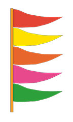 Plasticloth Antenna Pennant - Multi-Colored