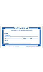Blank Contest Entry Cards - Blue & White
