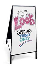 A-Frame Sidewalk Sign with Dry Erase Board - White