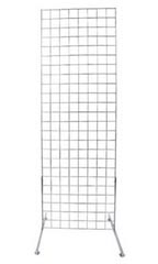 Chrome Retail Standing Grid Screens - 6'