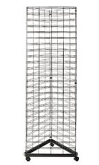 Black Triangle Slat Grid Tower - 6.5'