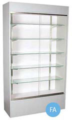Glass Wall Unit Display Cases - Gray