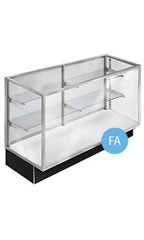 "70"" Metal Framed Extra Vision Display Case"