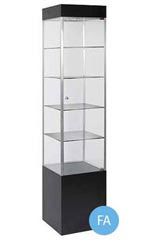 "Black 75"" Square Display Tower - Metal Frame"