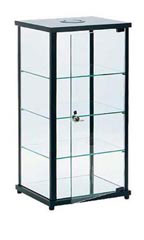 Black Square Countertop Display Cases