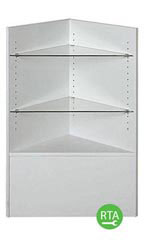 90 Degree Corner Filler Display Case - Gray