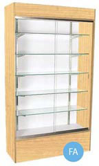 Glass Wall Unit Display Cases - Maple