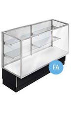Metal Framed 4' Black Display Cases