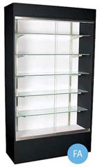 Glass Wall Unit Display Cases - Black
