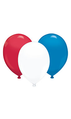 "17"" Latex Balloons - Red/White/Blue Assortment"