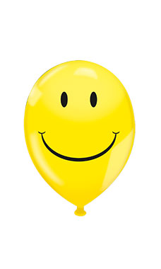 "17"" Latex Balloons - Yellow Smiley Face"