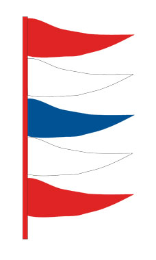 Plasticloth Antenna Pennant - Red/White/Blue