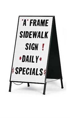 Plastic A-Frame Sidewalk Sign - White