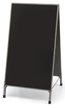 A-Frame Chalkboard Sign - Raw Steel