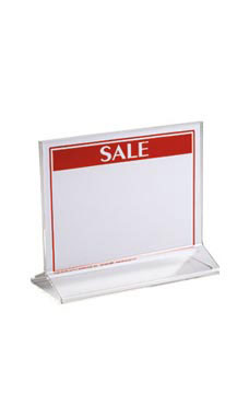 Acrylic Top Loading Sign Holders