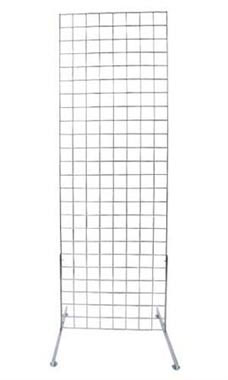 Chrome Retail Standing Grid Screens - 6