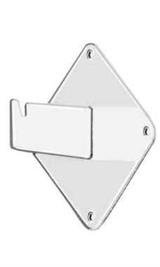 White Wall Mount Gridwall Brackets