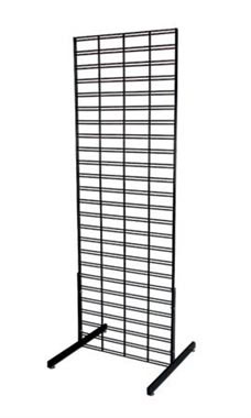 Black Retail Slat Grid Stands - 6