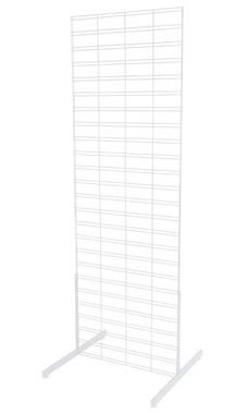 White Slat Grid Stands - 6