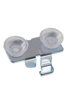 Rear/Center Lock-In Shelf Rests - Glass