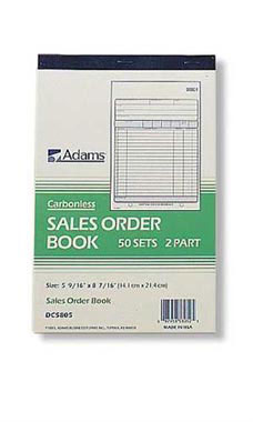 Carbonless Sales/Purchase Order Books