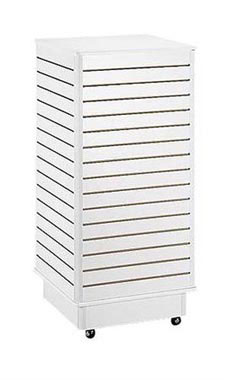 Slatwall Tower with Rolling Base- white