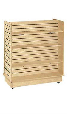 Slatwall Gondola with 6 Shelves and Brackets- Maple