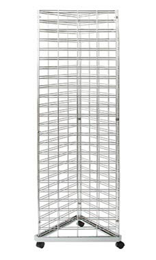 Chrome Triangle Slat Grid Tower - 6.5