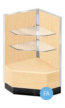 Metal Framed 90 Degree Corner Filler Display - Maple