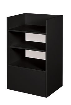 Economy Well Top Register Stands in Black