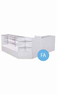Gray Economy Display Case Arrangements