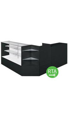 Black Full Vision Display Case Arrangements