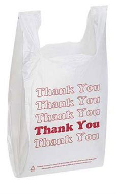Whole Plastic T Shirt Bags With Red Thank You Print