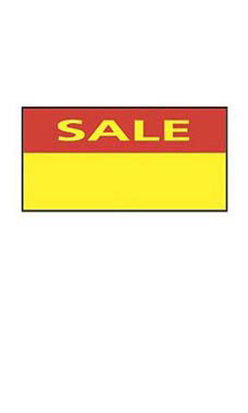 Red & Yellow SSW Sale 1-Line Label